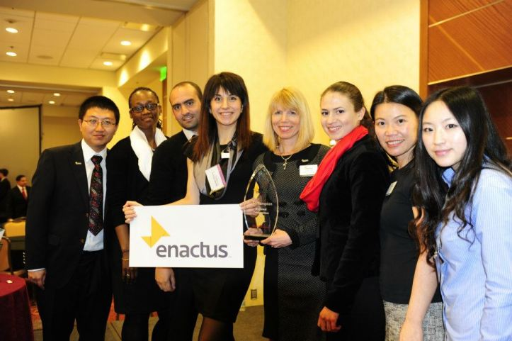 Students from the City University of Seattle Enactus team.