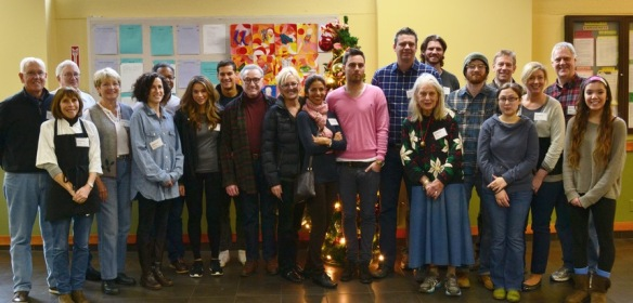 All volunteers from the Christmas special meal.