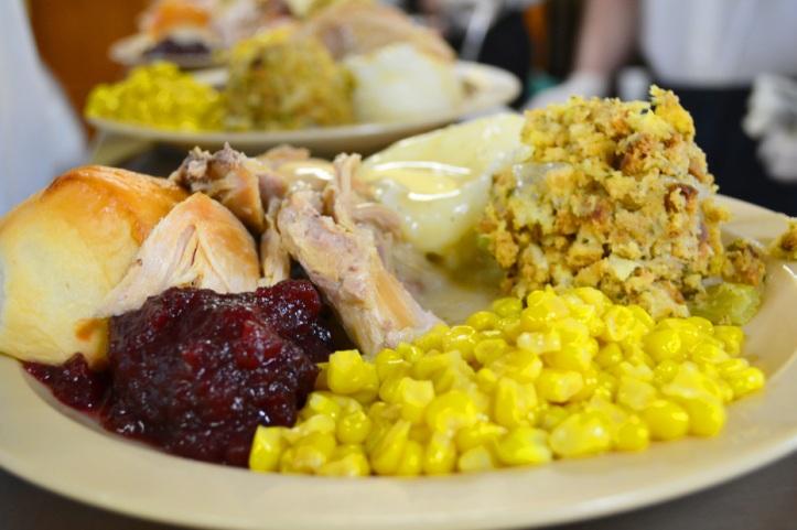 plate xmas eve turkey lunch