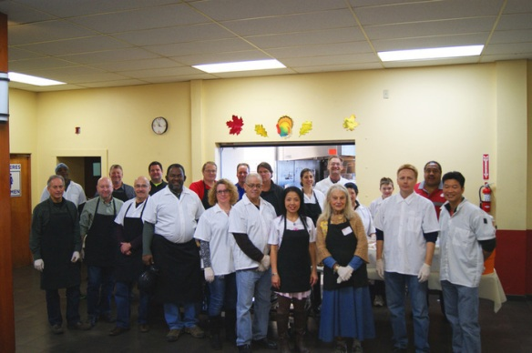 Volunteers from Seattle City Light who served our participants the day before Thanksgiving.