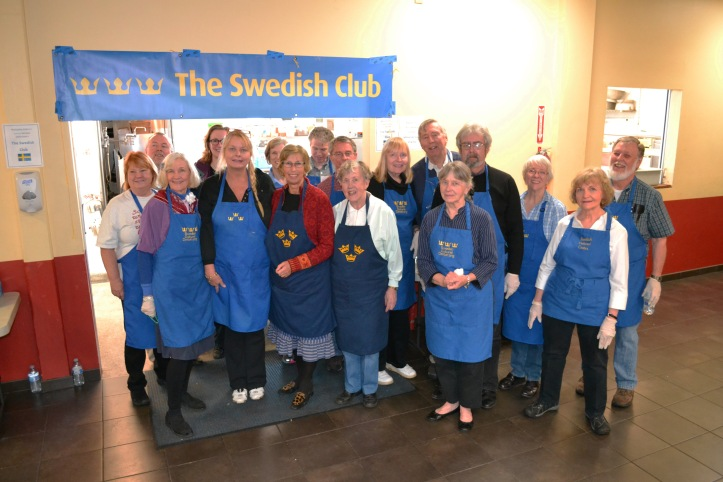 Group shot of volunteers from The Swedish Club.