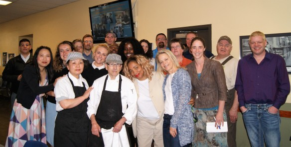 MCC staff with Chef Terry during the celebration of his 20 year anniversary.